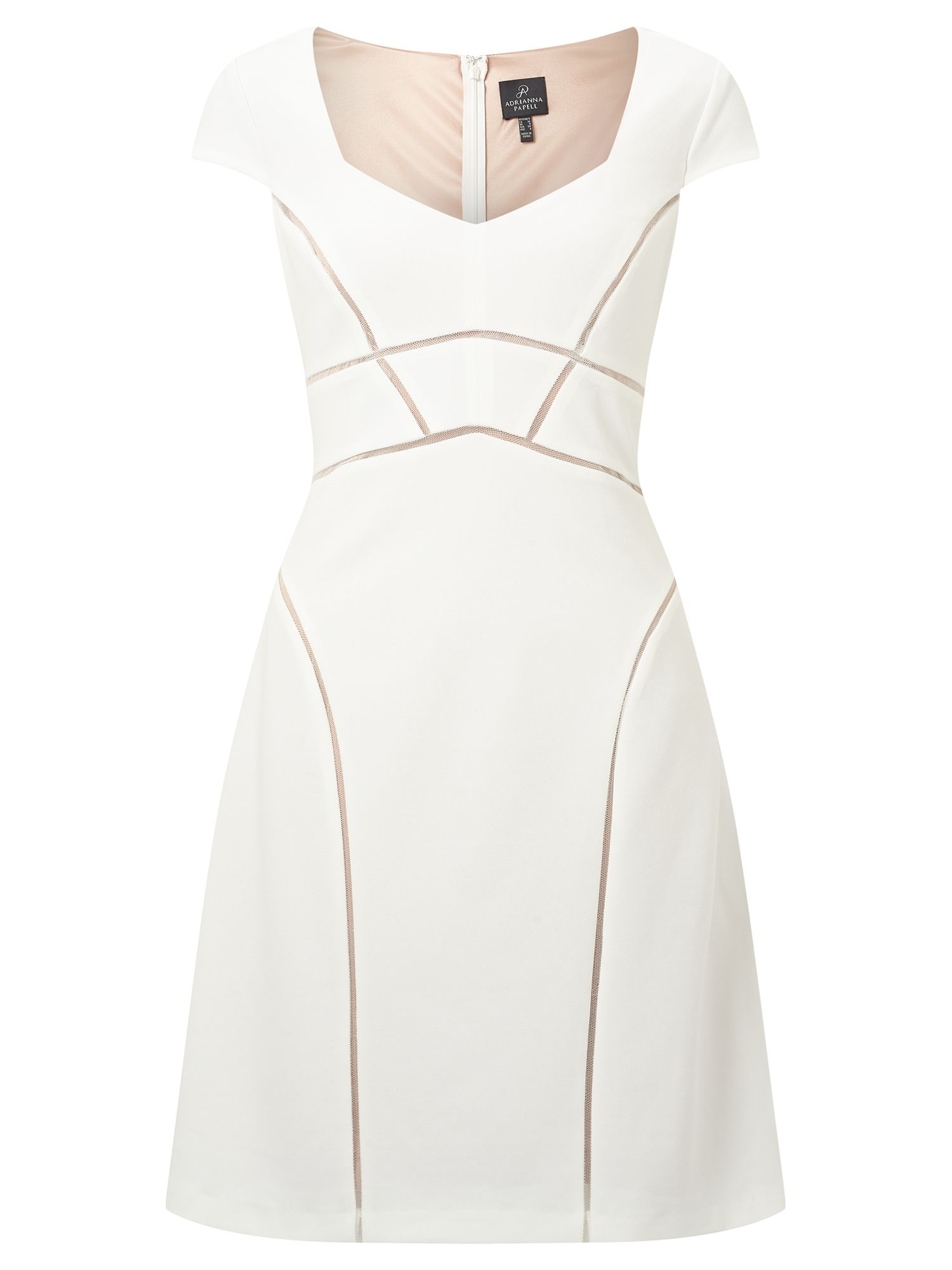 Adrianna Papell Panel shift dress, White
