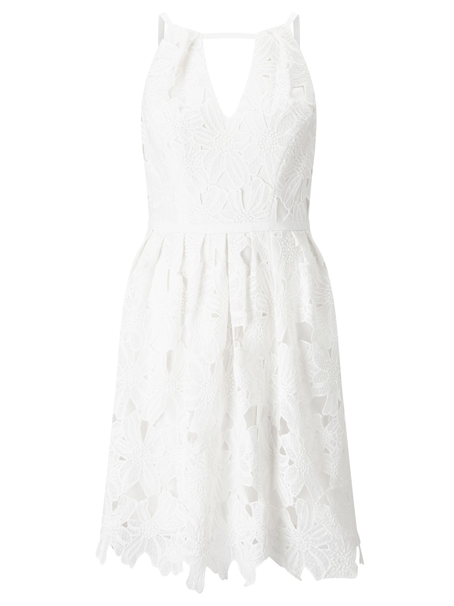 Adrianna Papell Lace fit & flare dress, White