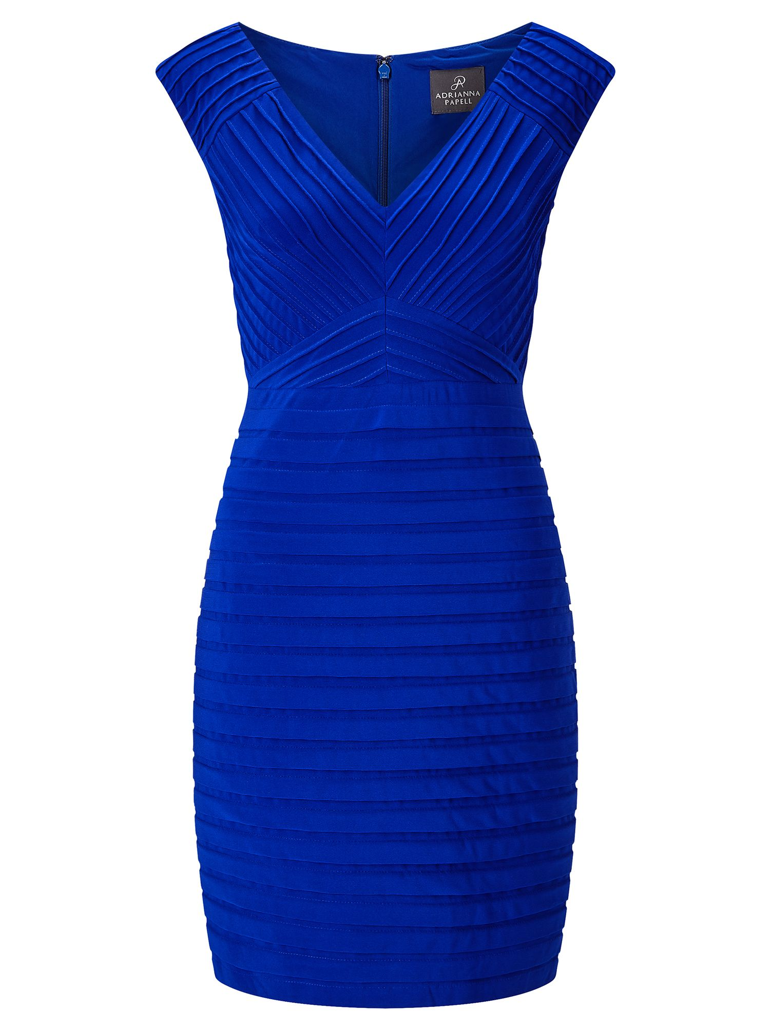 Adrianna Papell Pin tuck sheath dress, Blue