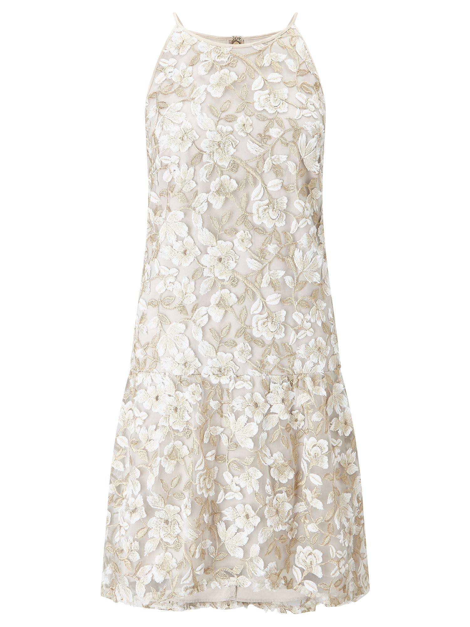 Adrianna Papell Embroidered dress, Multi-Coloured