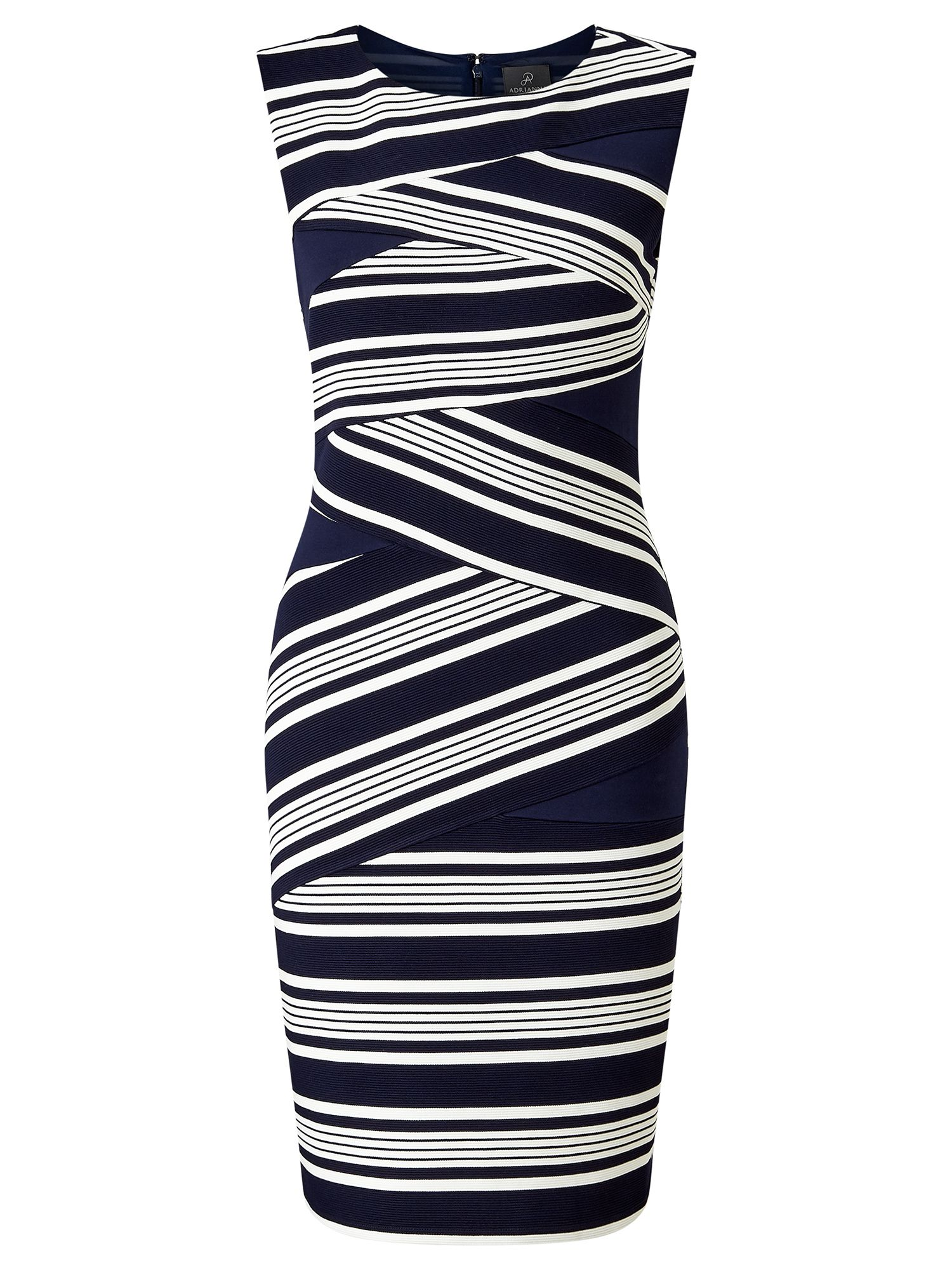 Adrianna Papell Stripe sheath, Multi-Coloured