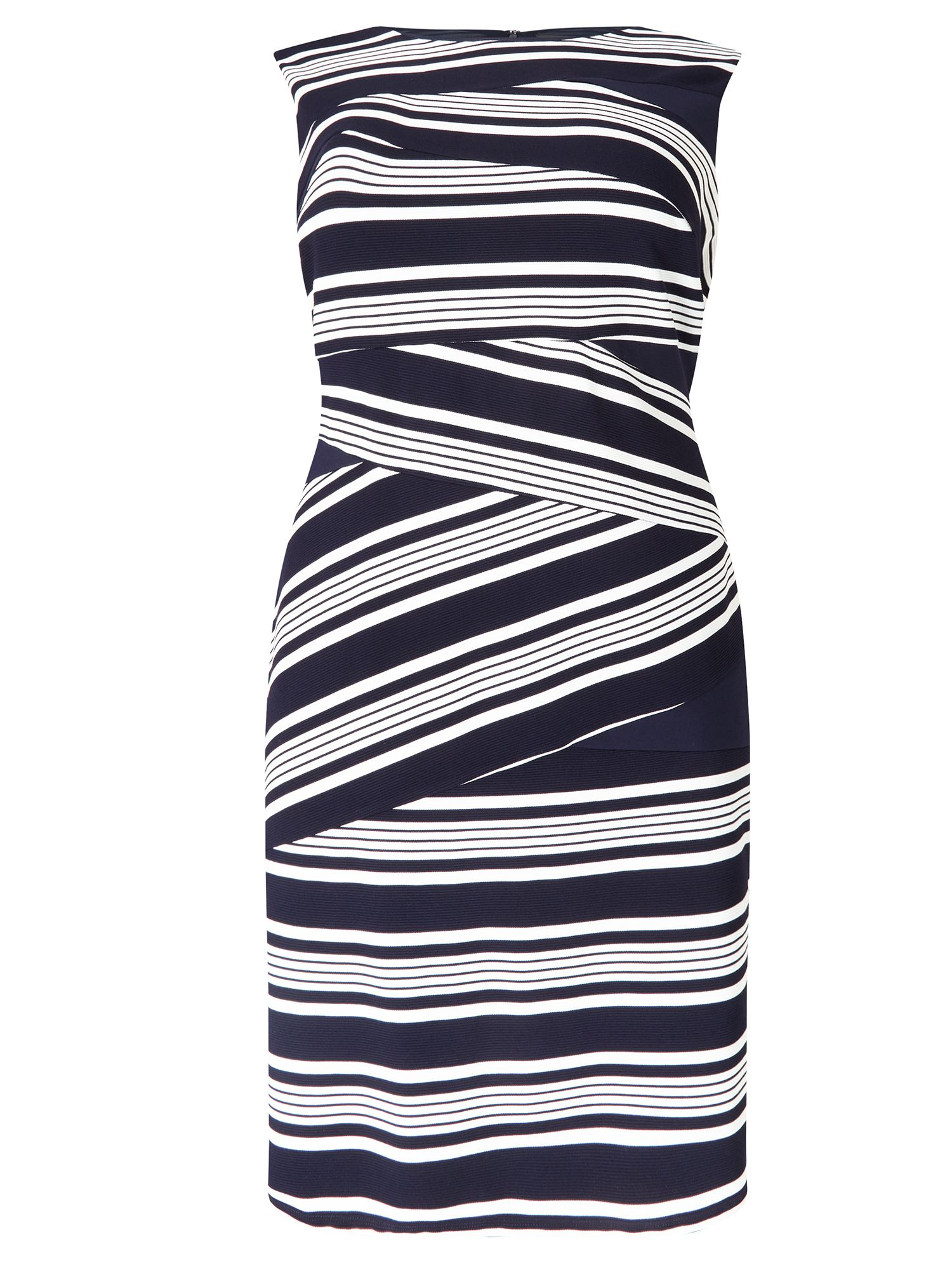 Adrianna Papell Stripe Sheath Dress, Multi-Coloured