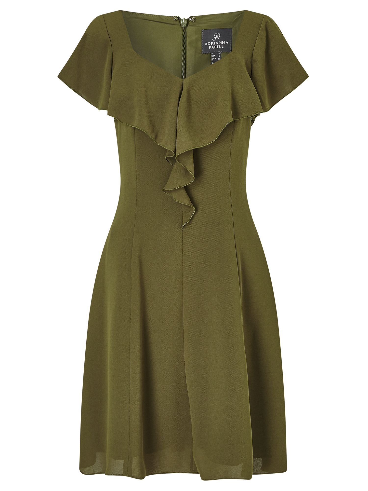 Adrianna Papell Ruffle Dress, Green