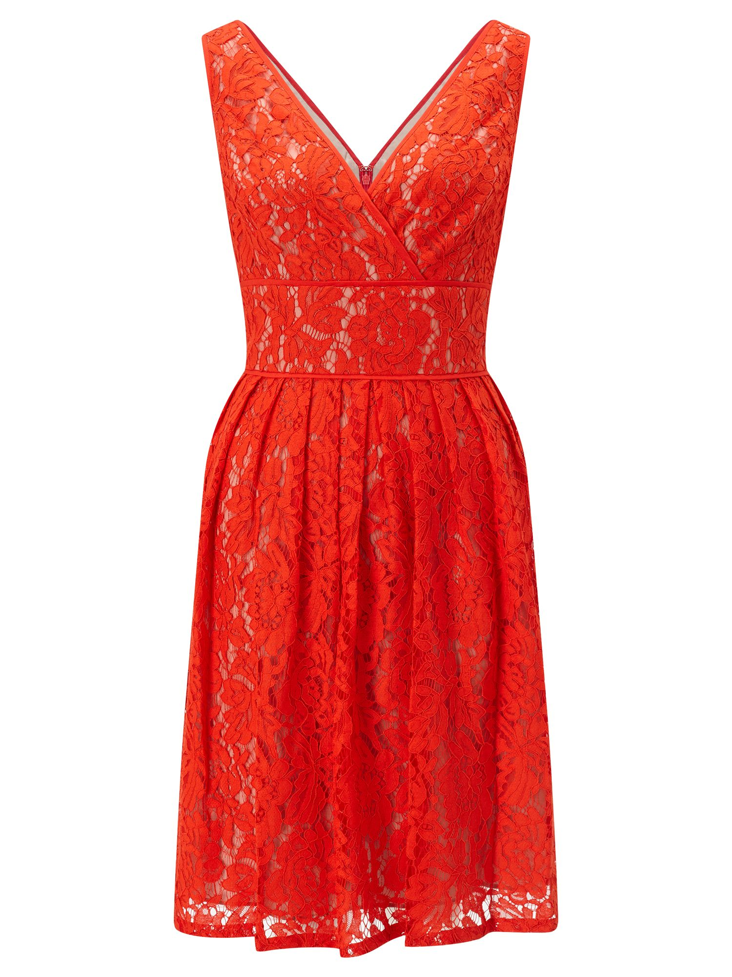 Adrianna Papell Lace Dress, Orange