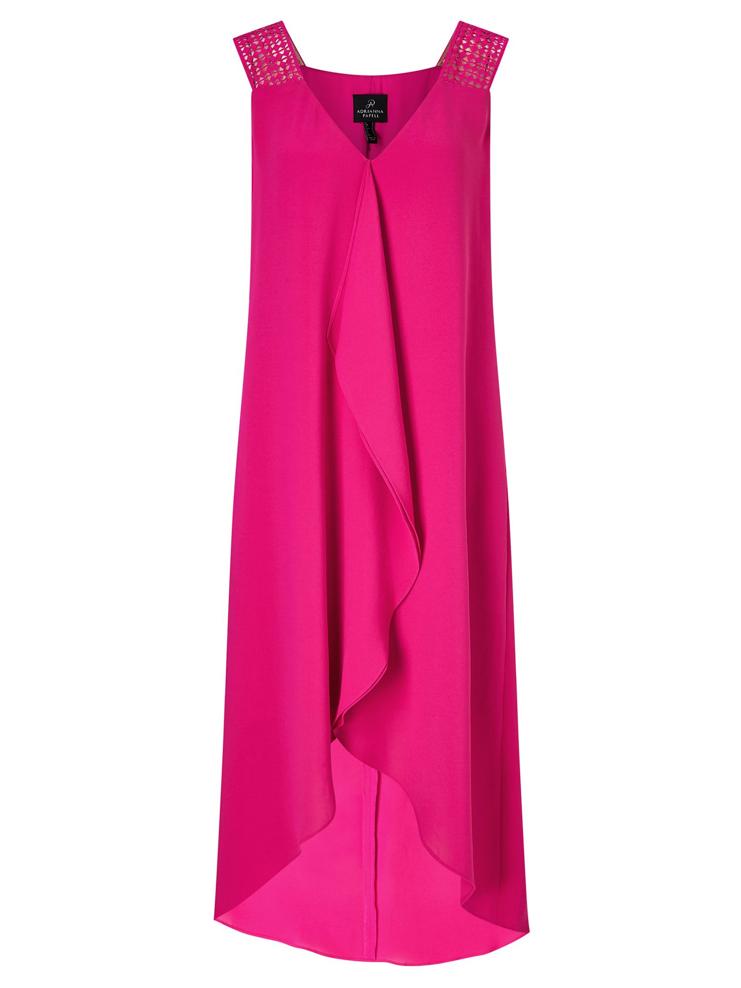 Adrianna Papell Drape crepe dress, Pink