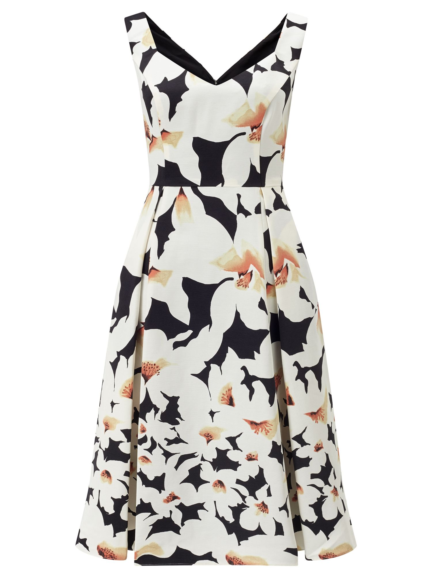 Adrianna Papell Floral fit & flare dress, Multi-Coloured