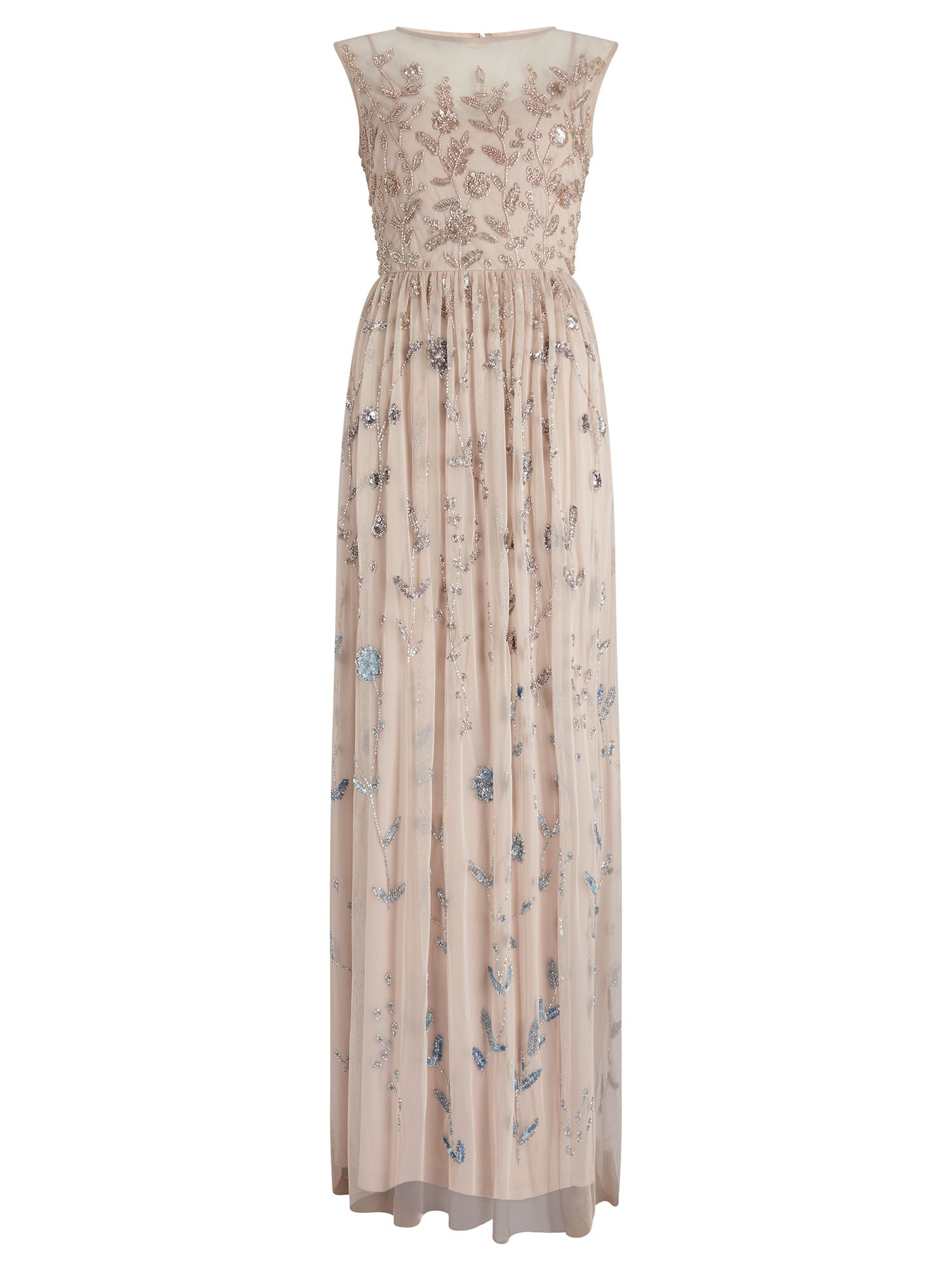 Adrianna Papell Embellished Evening Dress, Pink