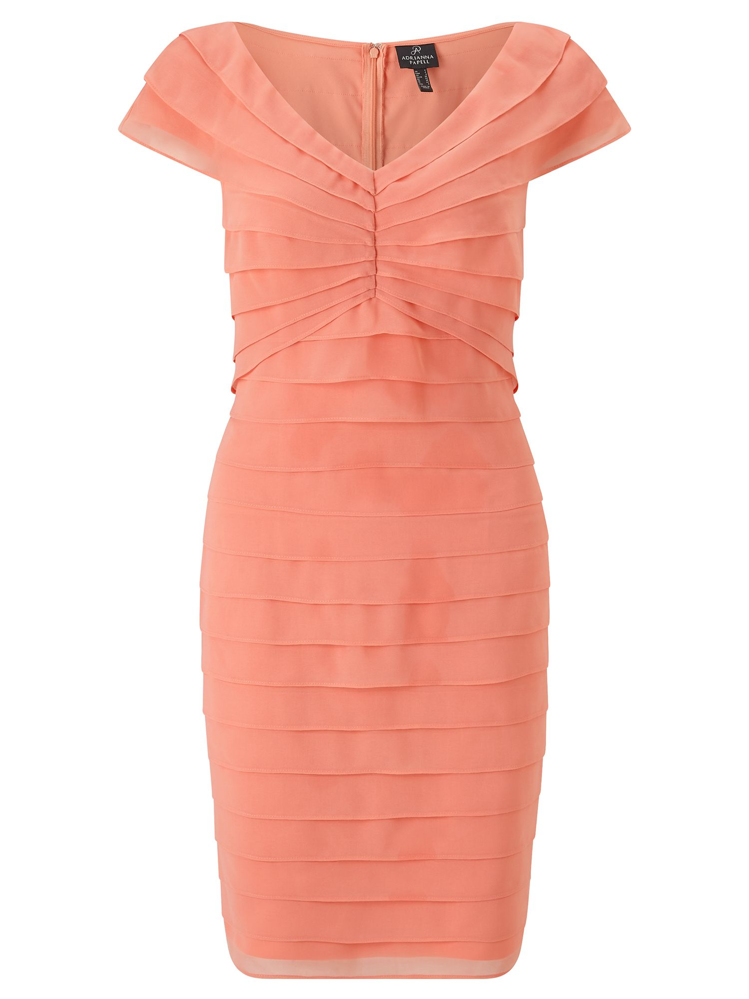 Adrianna Papell Sleeveless Ruffle Shift Dress, Orange