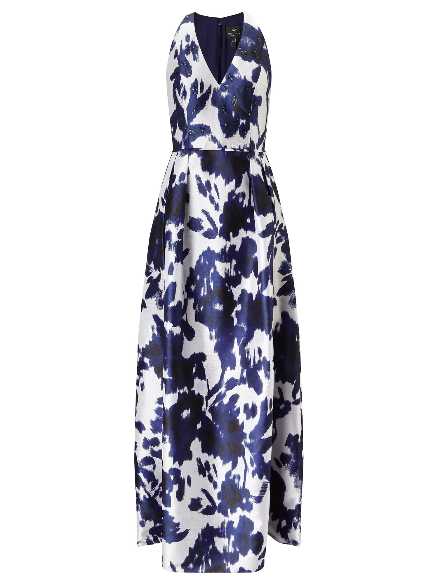 Adrianna Papell Print gown, Multi-Coloured