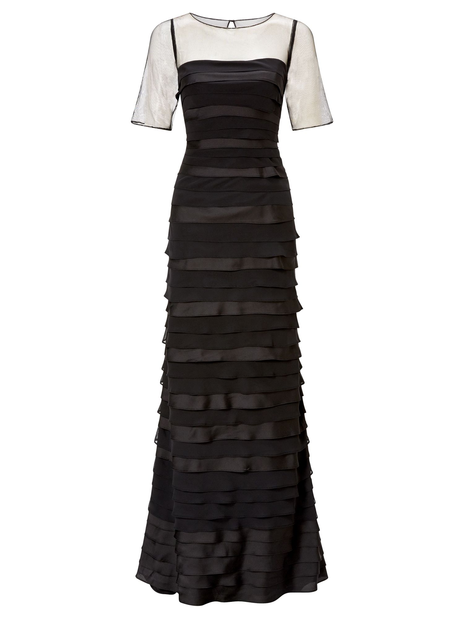Adrianna Papell Layer Evening Dress, Black