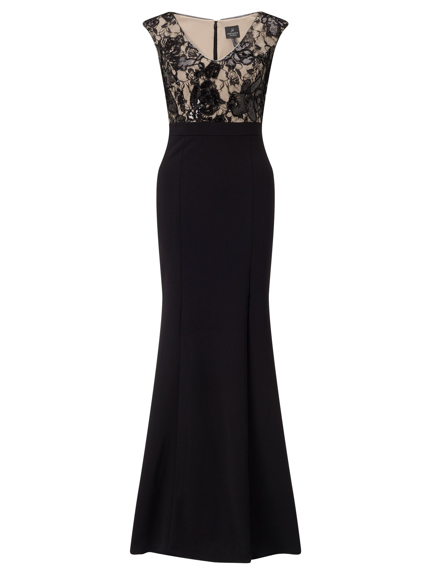 Adrianna Papell Lace evening dress, Multi-Coloured