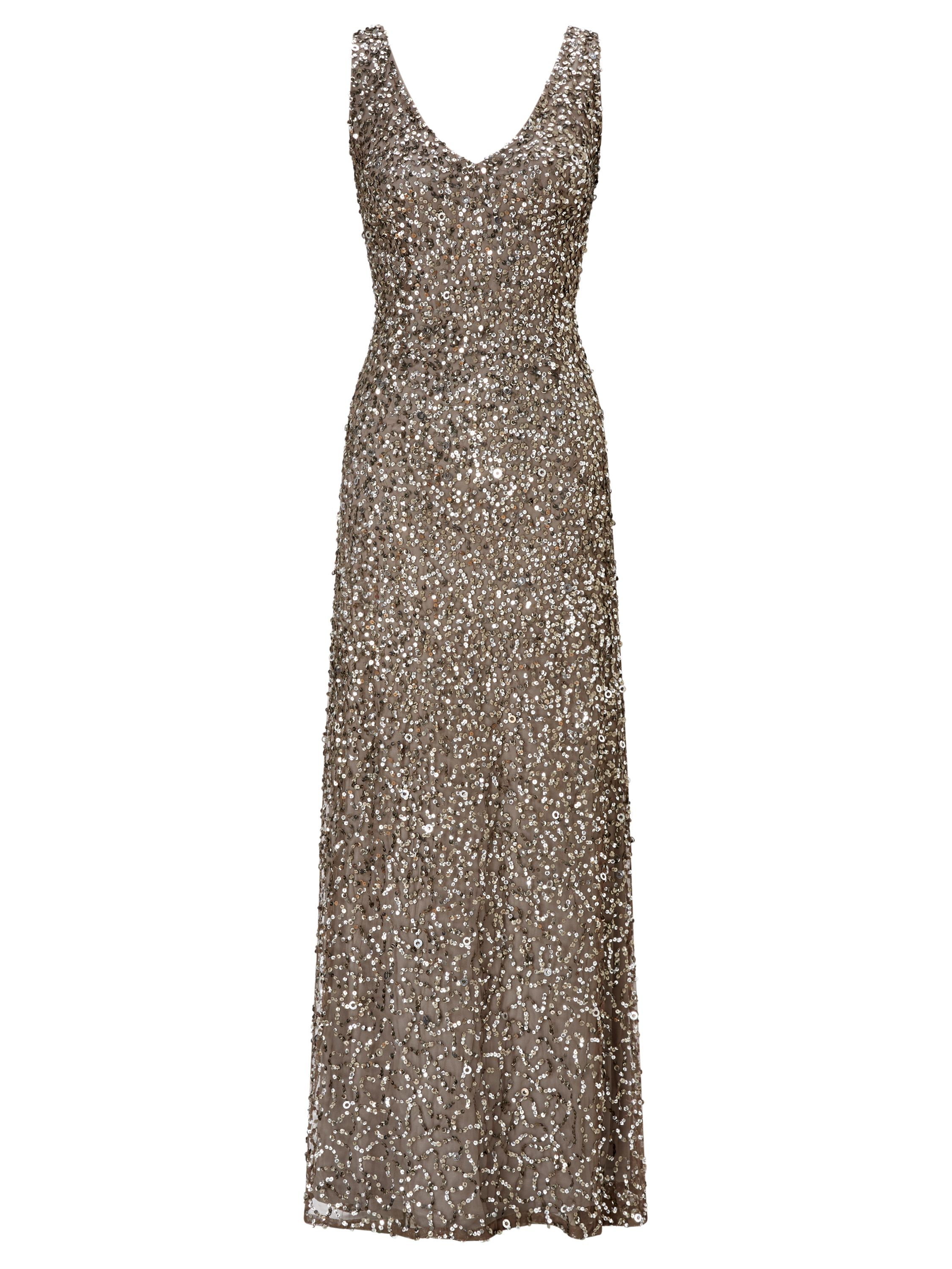 Adrianna Papell Strapless Evening Dress, Grey