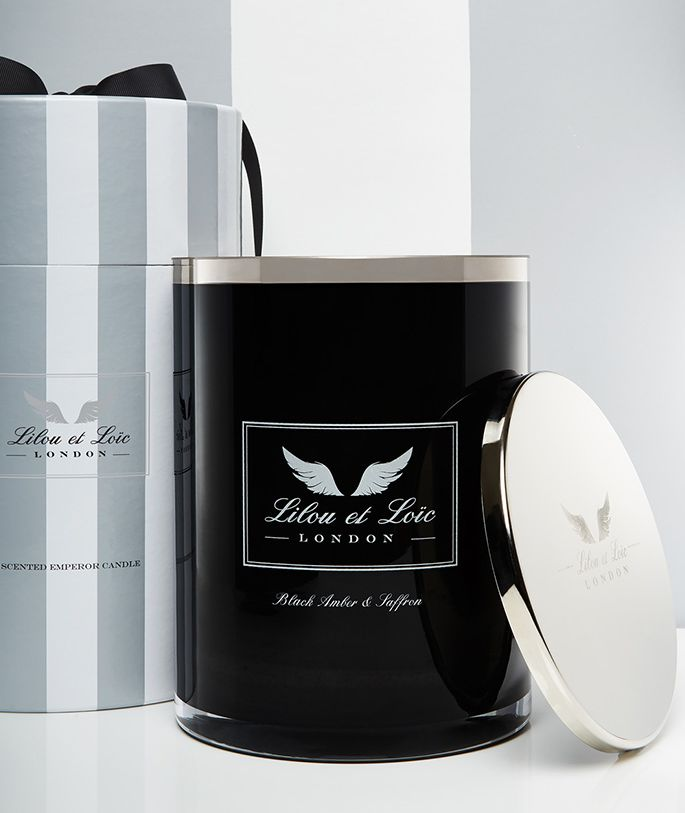 Image of Lilou et Loic Black amber & saffron black candle