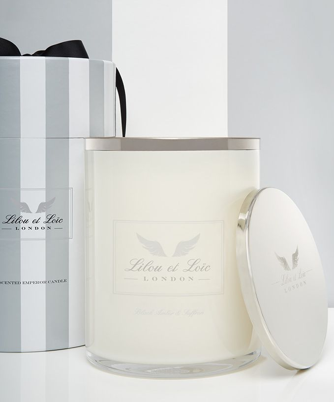 Image of Lilou et Loic Black amber & saffron clear candle