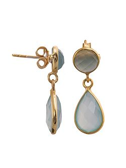 Antibes gold faceted teardrop earring