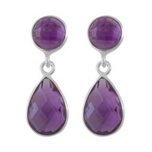 Juvi Designs Antibes silver faceted teardrop earring