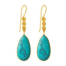 Juvi Designs Boho gold three little disk earrings