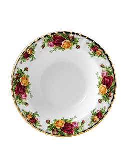 Old country roses small rim soup bowl