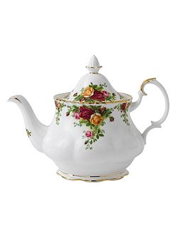 Old country roses large teapot