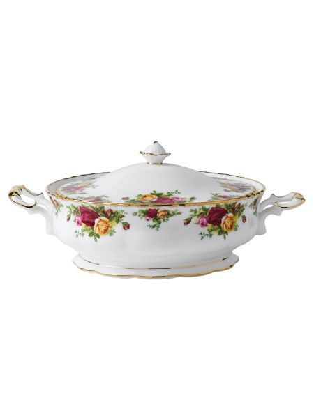Royal Albert Old country roses covered vegetable dish