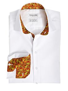 Staunton Moods Red ghoulies mood slim fit shirt