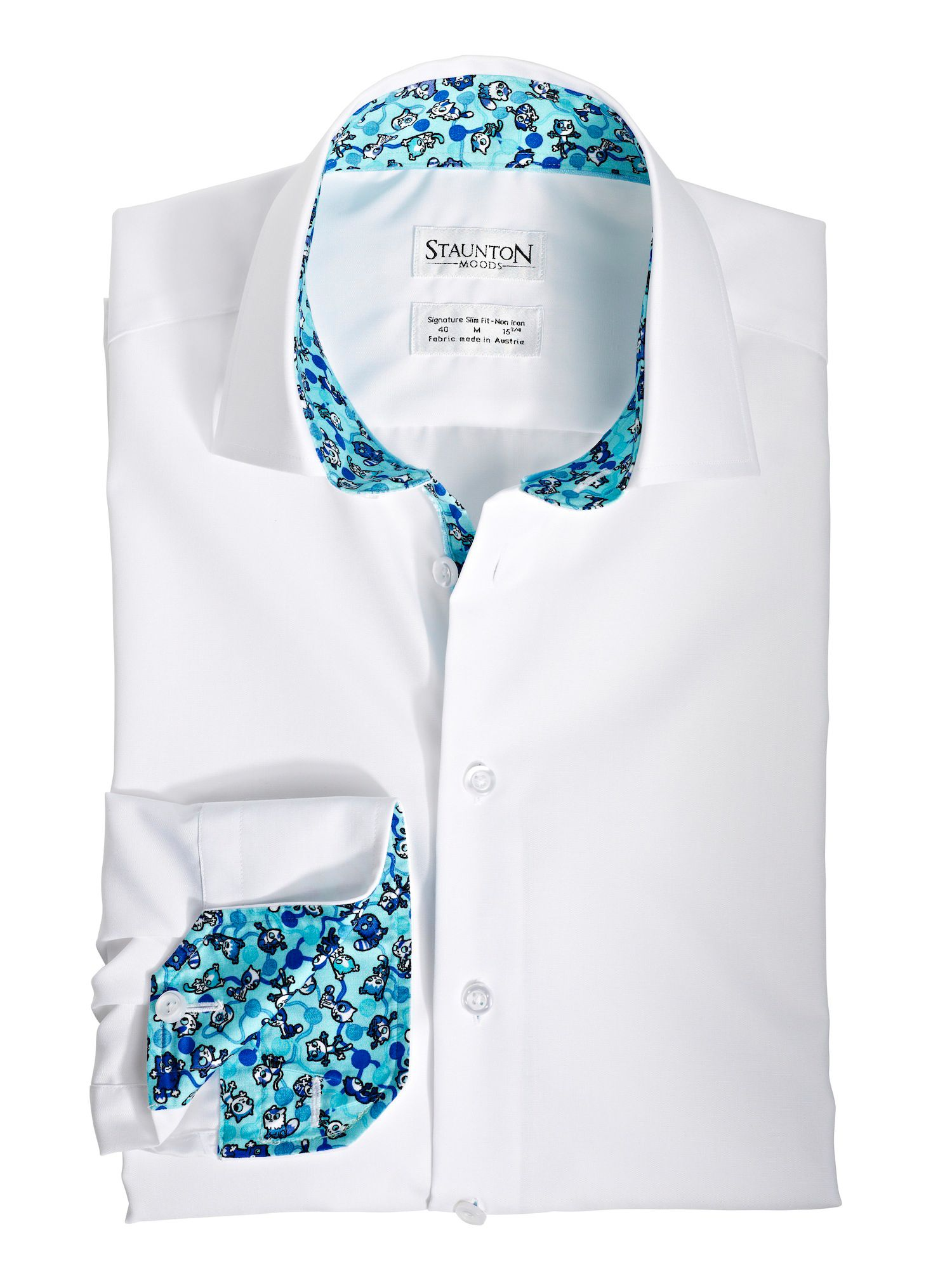 Blue kittens mood slim fit shirt