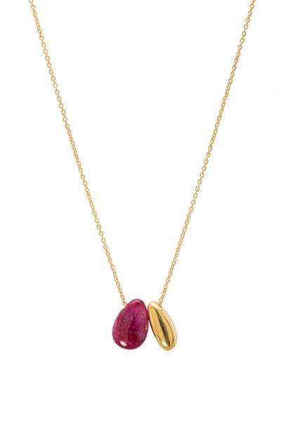 Juvi Designs Gold vermeil boho little bean pendant