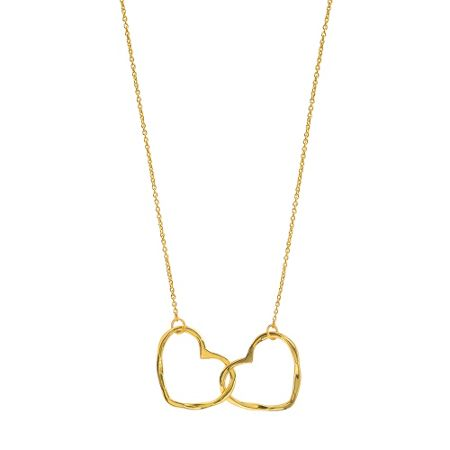 Juvi Designs Gold vermeil hearts entwined pendant