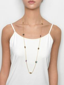 Gold vermeil egadi long multi gem necklace