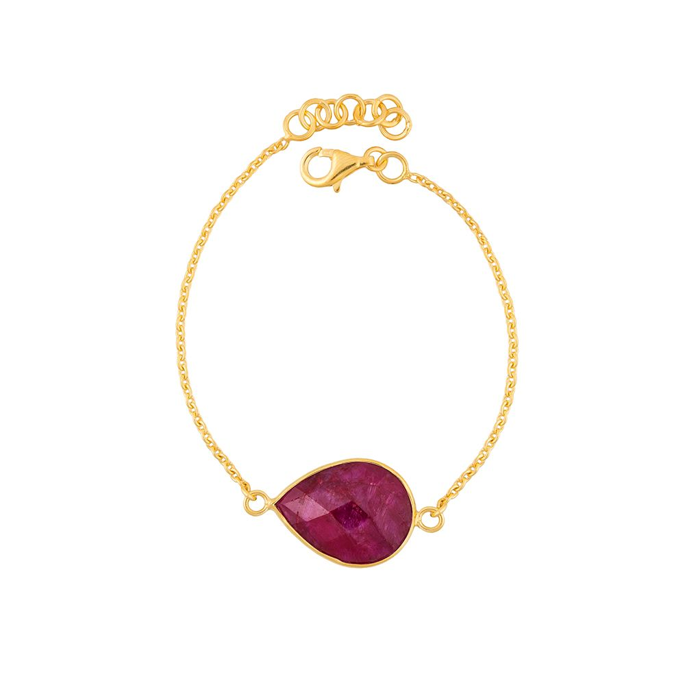 Juvi Designs Gold vermeil egadi teardrop bracelet, Red