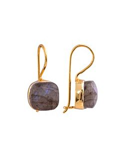 Gold vermeil egadi faceted square earrings