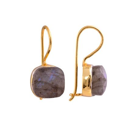 Juvi Designs Gold vermeil egadi faceted square earrings
