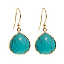 Gold vermeil egadi drop earrings
