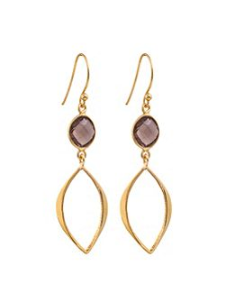 Gold vermeil boho cat eye earrings