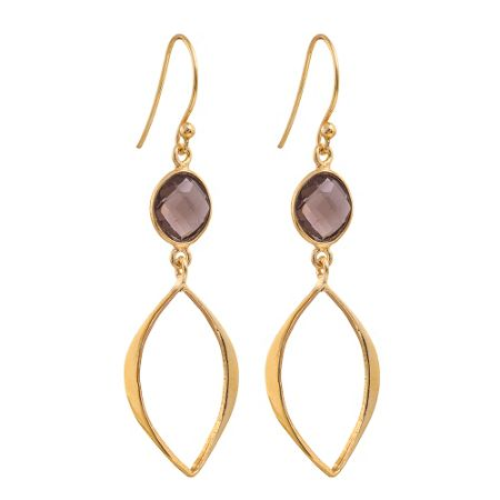 Juvi Designs Gold vermeil boho cat eye earrings