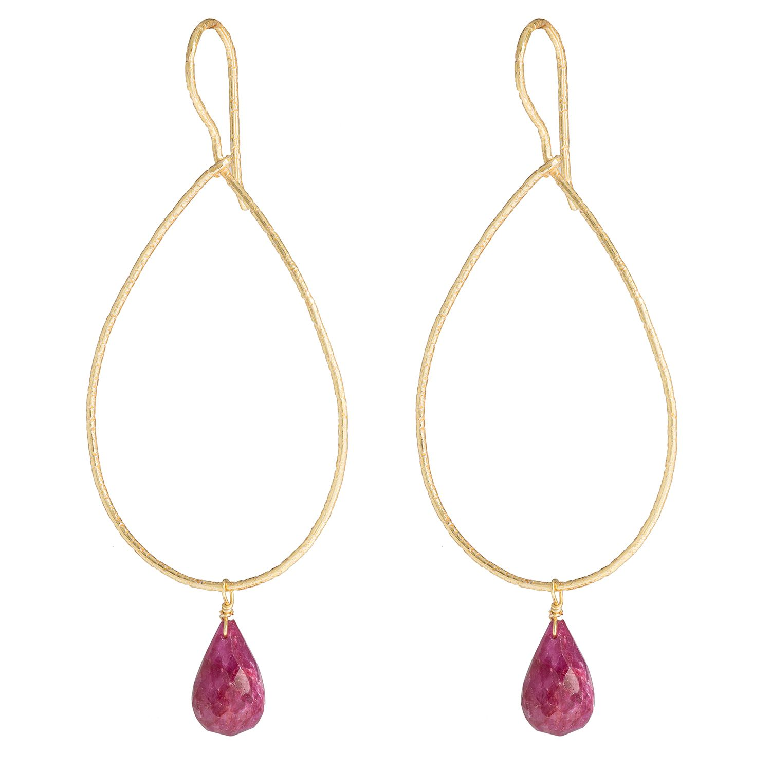 Juvi Designs Gold vermeil boho sway me earrings, Red