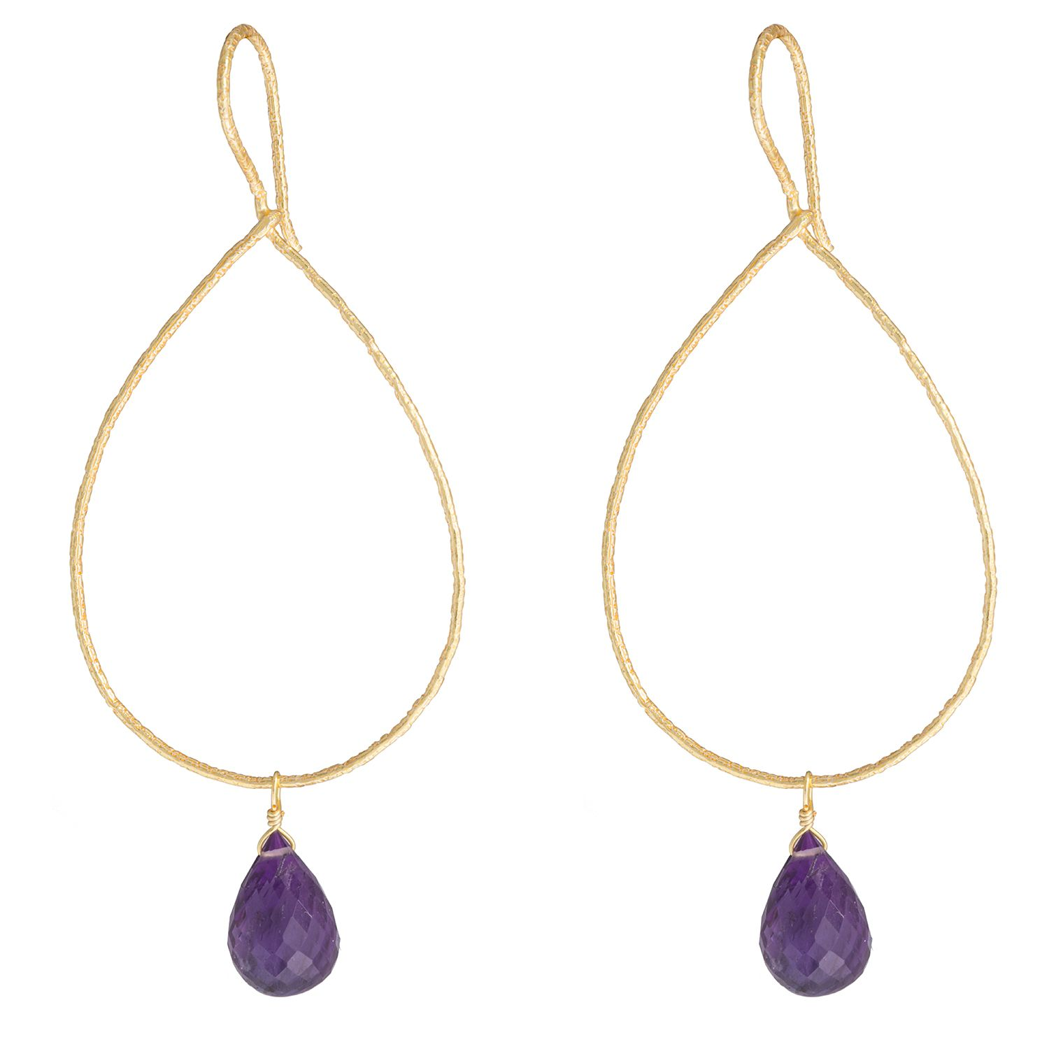 Juvi Designs Gold vermeil boho sway me earrings, Purple