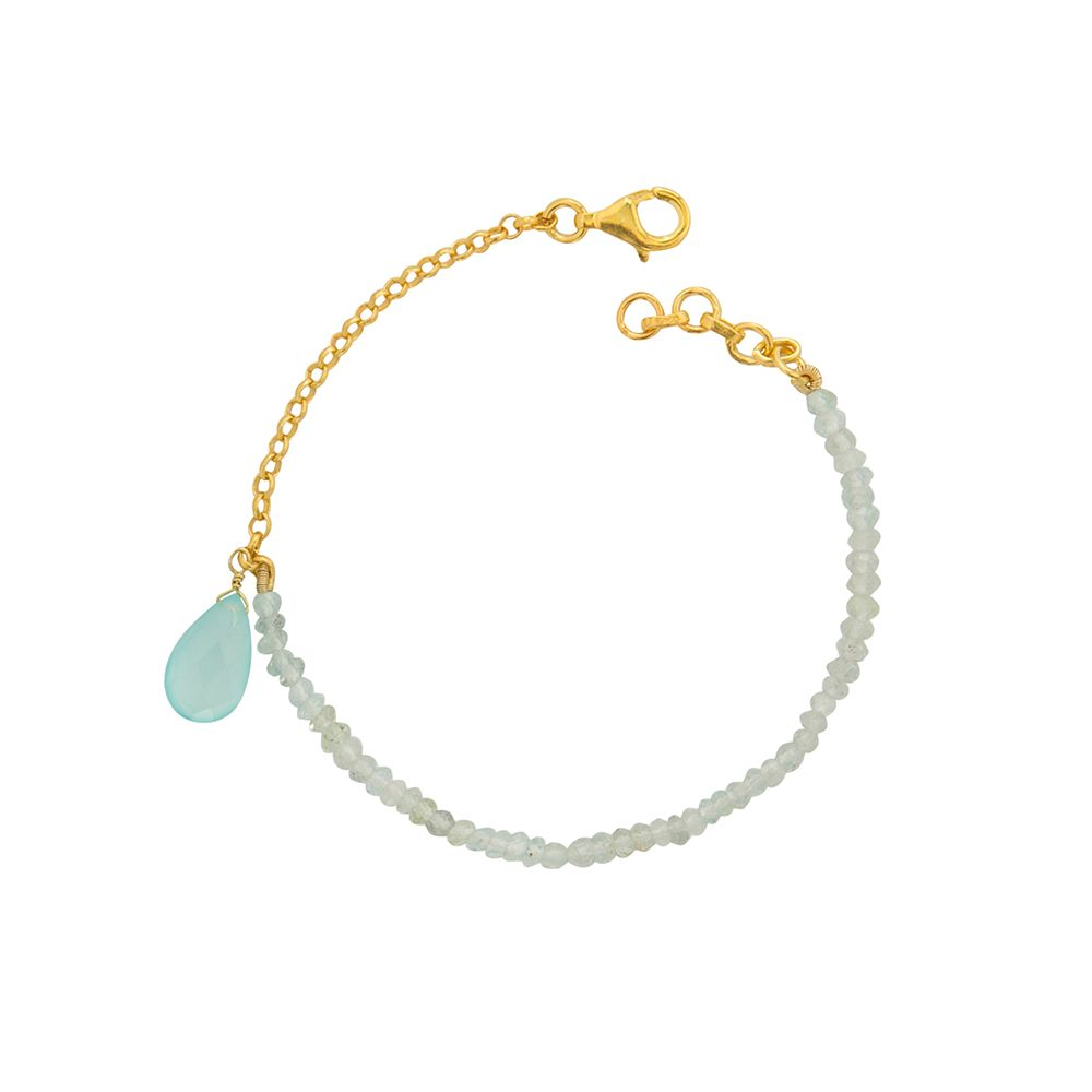 Juvi Designs Gold vermeil  meet in the middle bracelet, Blue