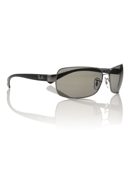 Ray-Ban Mens RB3379 Rectangle Sunglasses