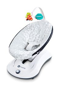 4Moms Rockaroo Silver Plush Baby Bouncer