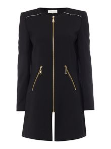 Tahari ASL Black Ponte Knit Topper Jacket