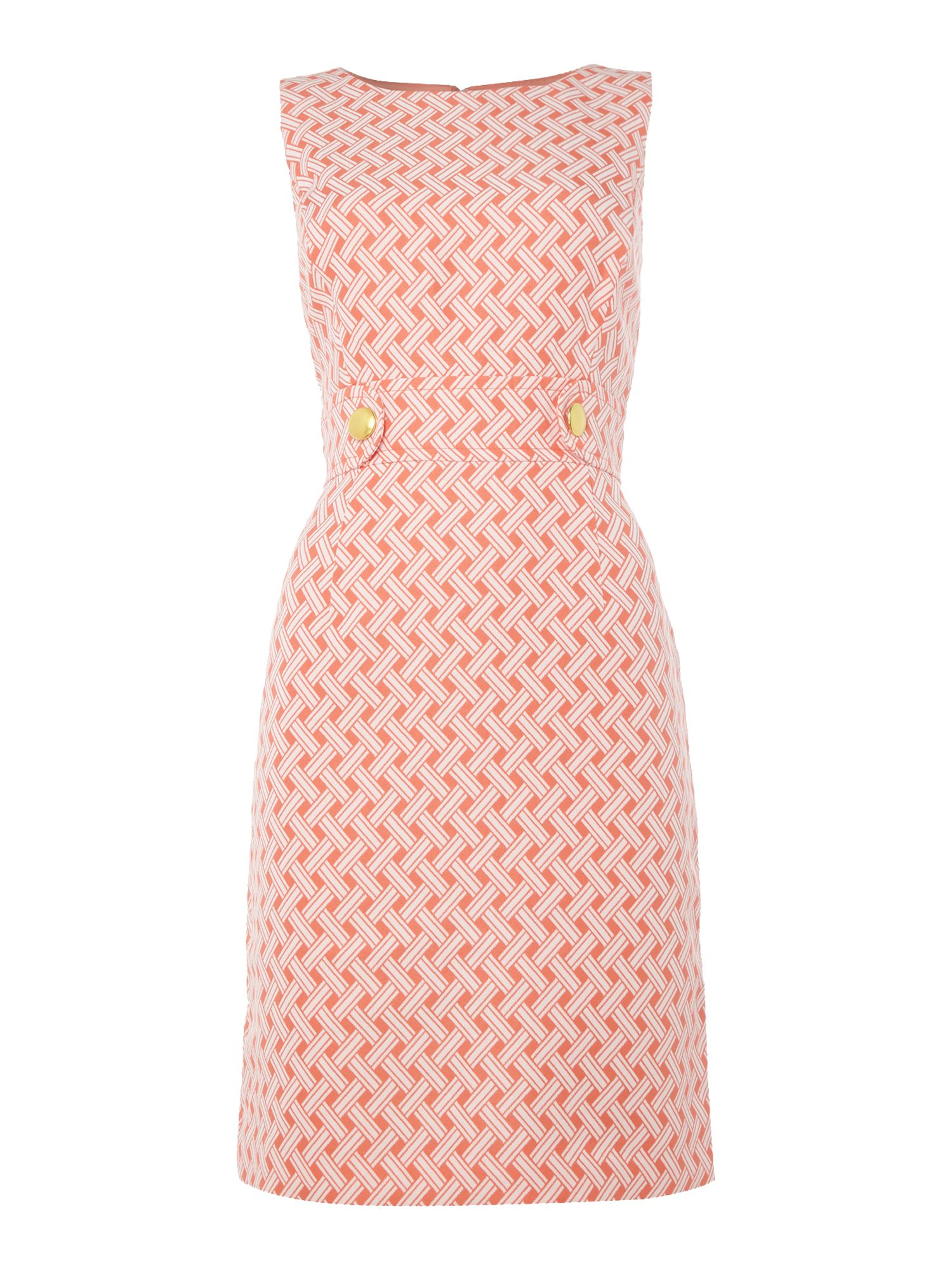 Tahari ASL Jacquard Print Shift Dress, Multi-Coloured