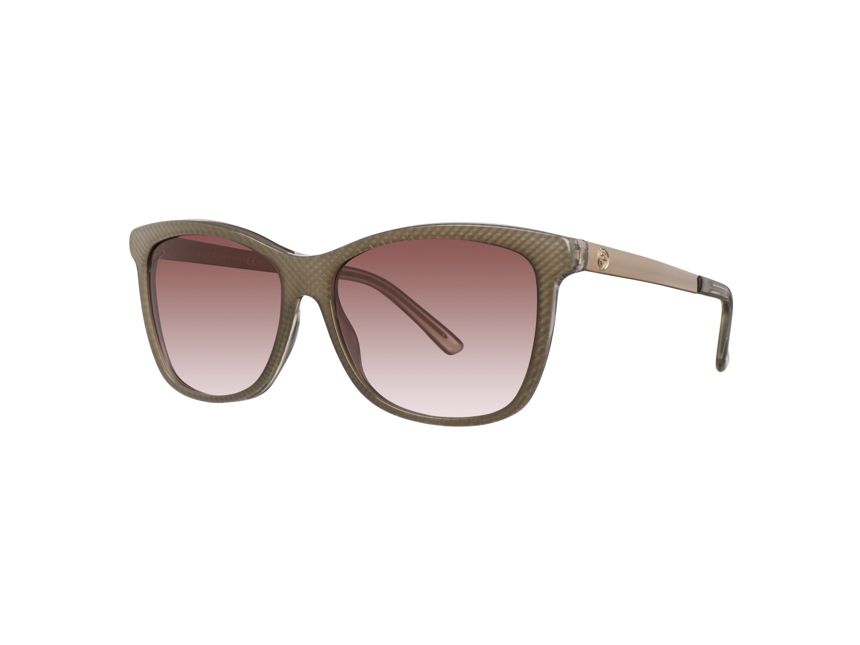 Women`s brown gradient square sunglasses