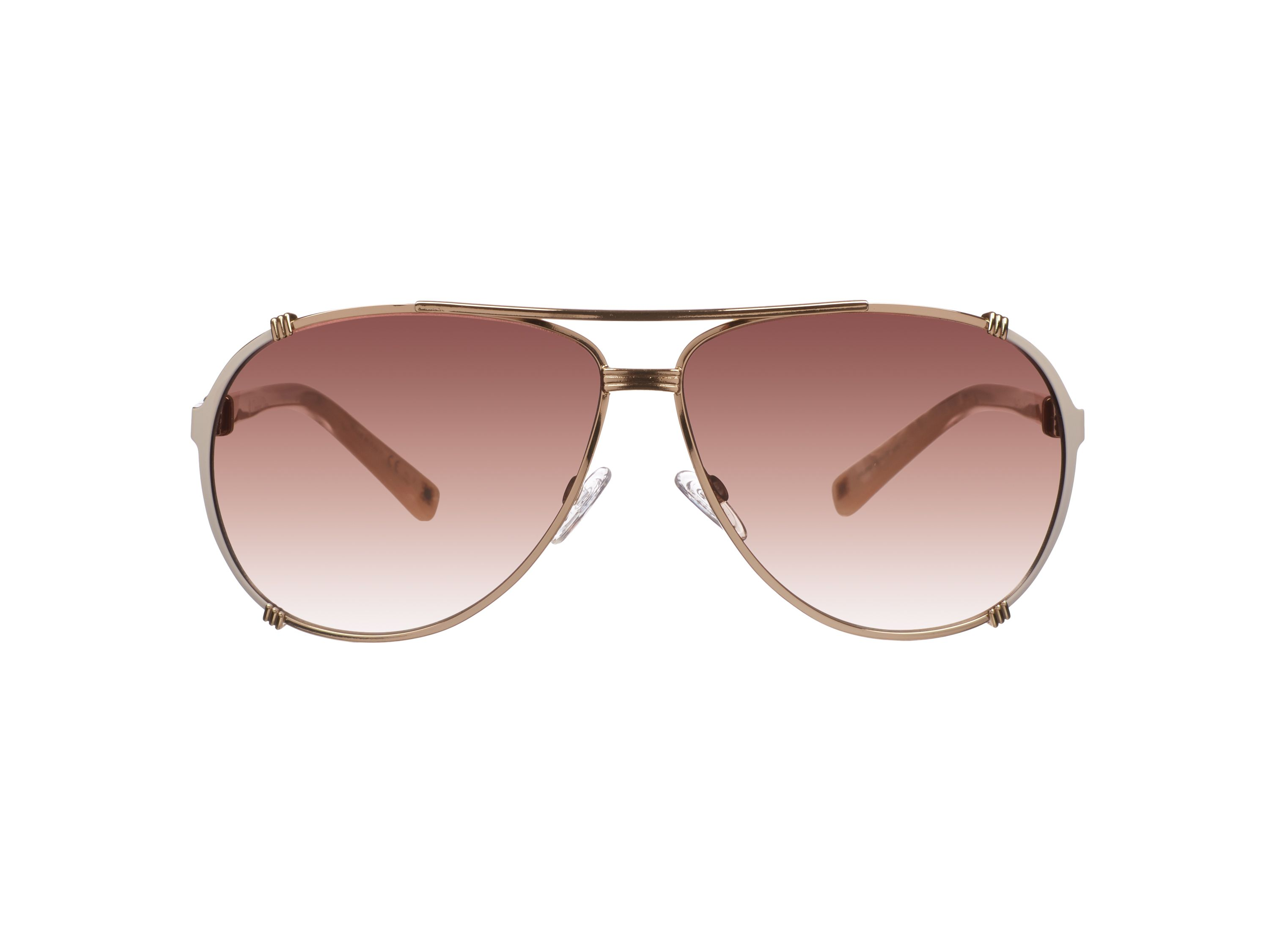 Women`s brown pilot sunglasses
