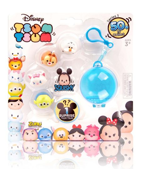 Disney Tsum Tsum Stackable Figure 5 Pack With Key Pod