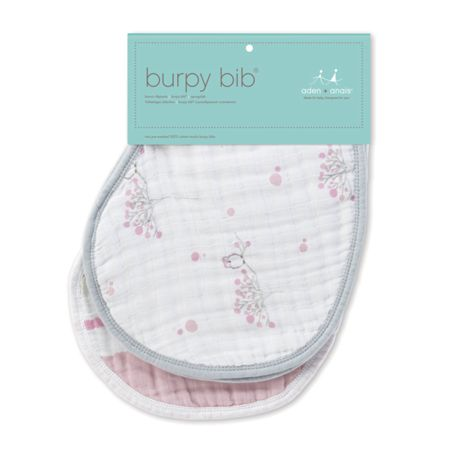 Aden & Anais Babys 2 pack printed burpy bibs