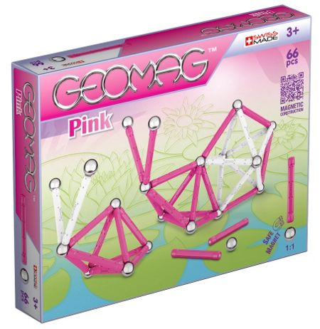 Geomag Kids Panels Magnetic Pink Set 66 Pieces