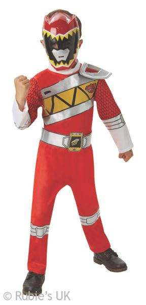 Power Rangers Dino Charge Red Ranger Costume Age 3-4