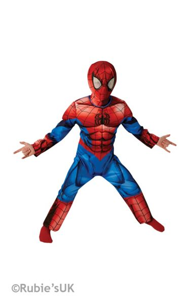 Spiderman Deluxe Muscle Costume (3-4 Years)