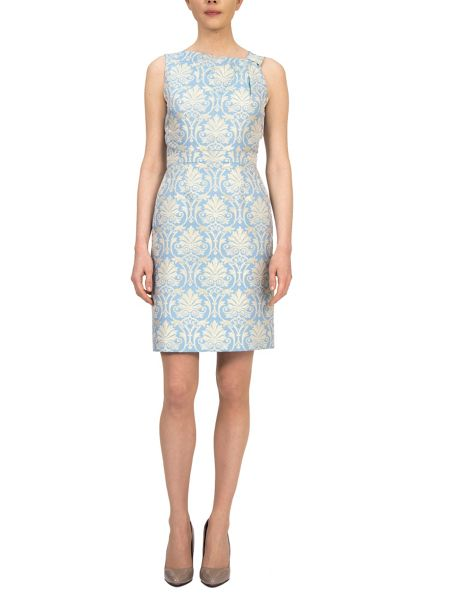 Tahari ASL Tulip sleeveless dress in french blue